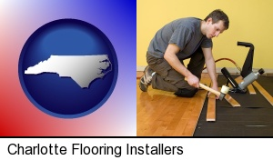Charlotte, North Carolina - a hardwood flooring installer