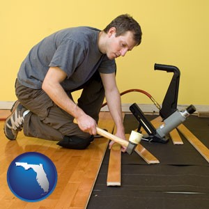 a hardwood flooring installer - with Florida icon